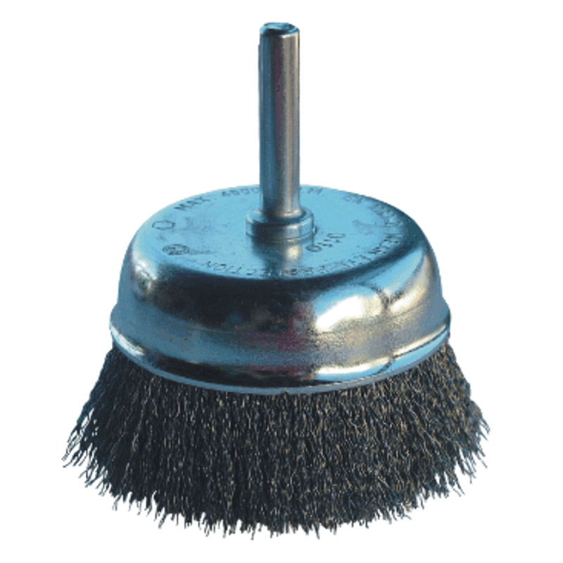 Wire Brush with Shaft Cup