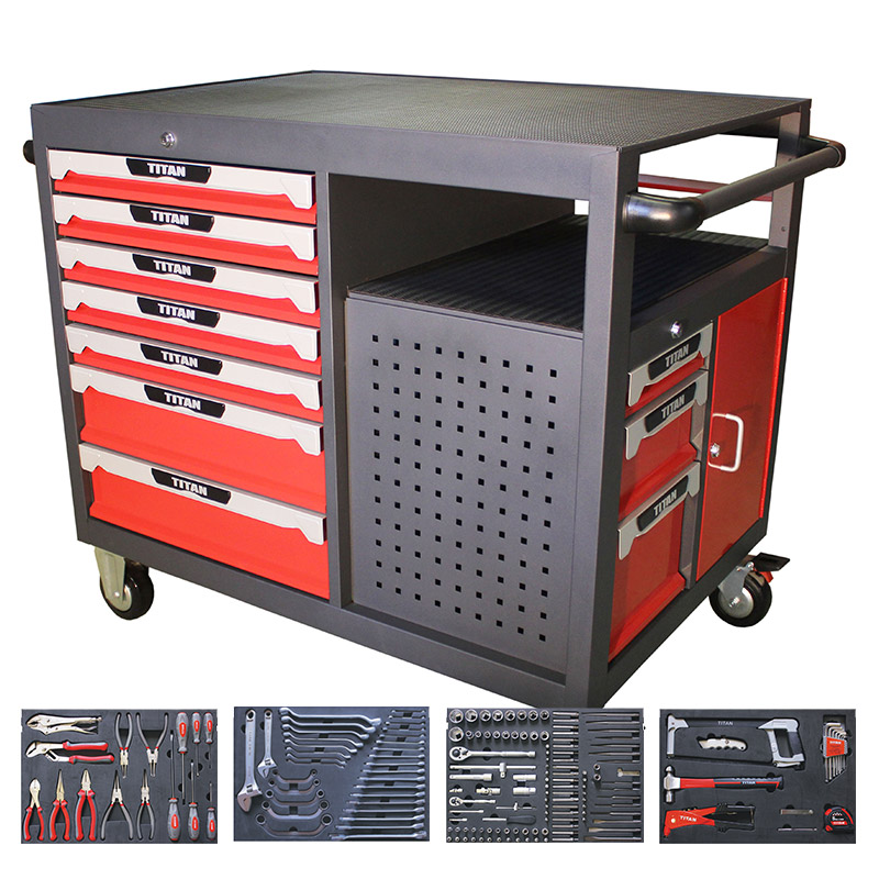 Tool Trolley 10 drawer with tools